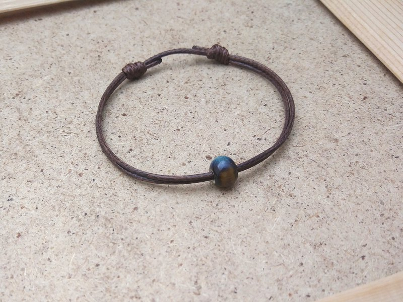 Wax line bracelet ceramic beads glaze blue plain simple wax rope thin line