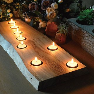Hand-made timber candleholder