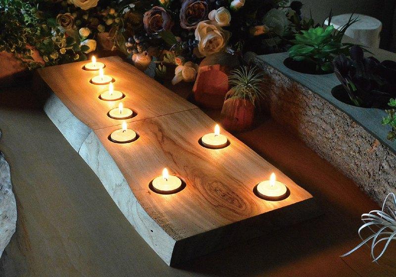 樟木 • 燭台 (四孔)--(不包含蠟燭)