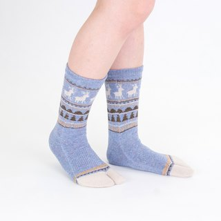 nordic pattern toe socks