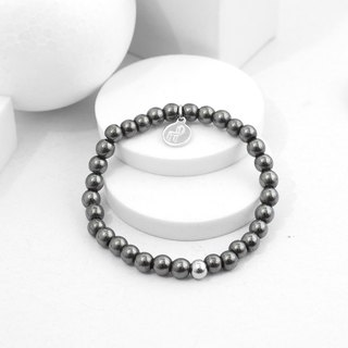 Recovery 6MM Beaded Bracelet (Black Gallstone)