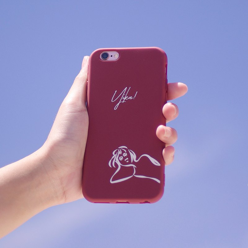 Yikes - iPhone Case / Red / Black All Inclusive Matte Soft Shell