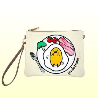 Egg yolk towel embroidered side backpack / handbag dual-use package - the plate section of the bag bag bag