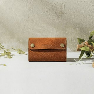 Leather coin short clip wallet (customizable lettering) DG39