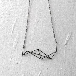 Geomatic Mountain Illusion box Necklace