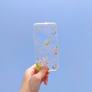 Mstandforc Hydrangeas Phone Case | Transparent | for iPhone and Android