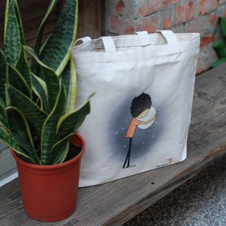 Cotton canvas bag - the warmest temperature