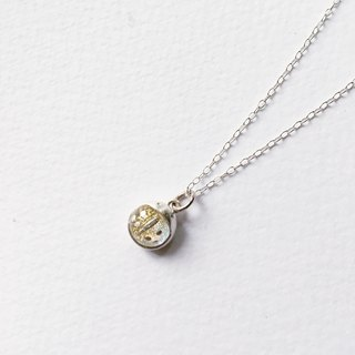 [Silver] hand-Petite Fille ladybug pendant in sterling silver