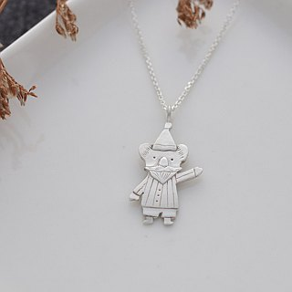 Ni.kou sterling silver Christmas koala necklace (gift Christmas koala postcard)