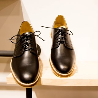 LANEY/Black Leather/Derby Shoes