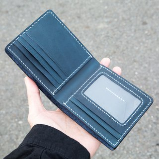 [Classic eight-card wallet] MISTER hand-made material package customized lettering