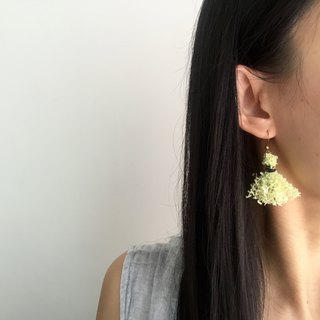 Handmade petit tassel earrings  |  Neon yellow