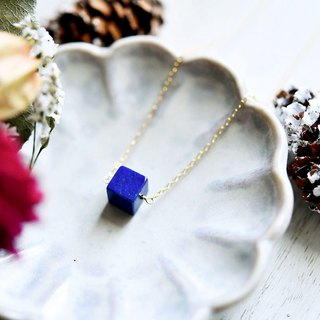Good luck and success luck UP, leading to success Cube Lapis lazuli necklace December birthstone lucky success luck!