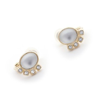 [JewCas] Air Earrings Series Swarovski Crystal Retro Air Ear Clips_JC2440