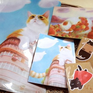 Cat slave preferential limited postcard sticker set