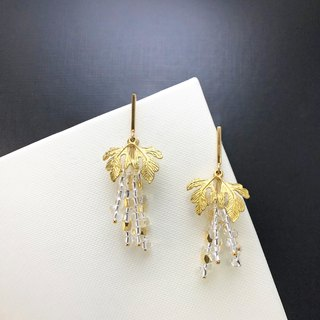 Exquisite -925 Silver Gold Plate Earrings 【Harvest Grapes】