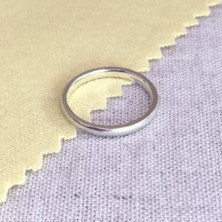 LIM - Simple round face small sterling silver ring