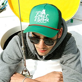 Forest & Waves truck cap / green