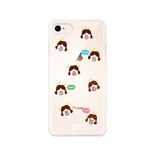Hello DunDun 啰Dengden series transparent jelly mobile phone soft shell 09. Wish