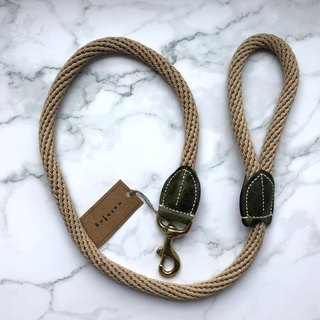 Rope pet leash green