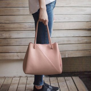 Large Tote Bag-nude pink