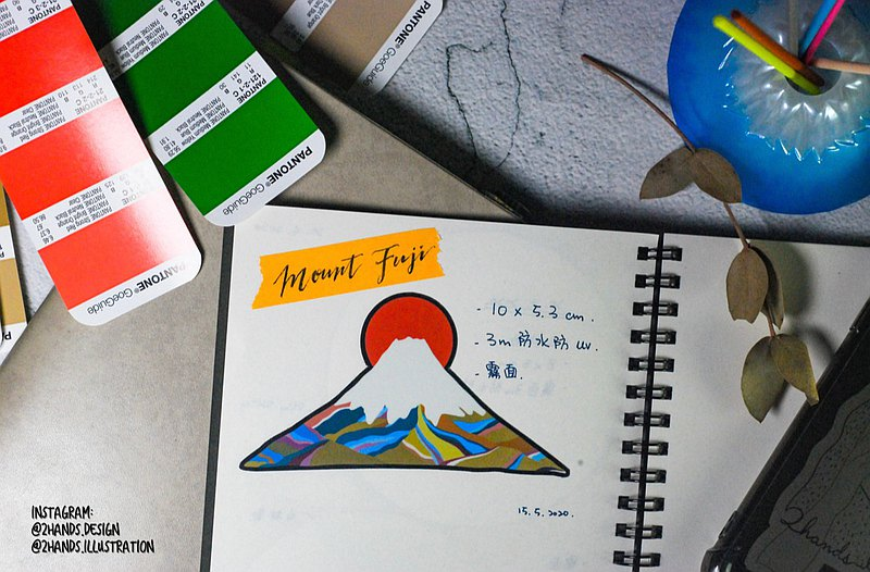 Waterproof sticker-Mount Fuji