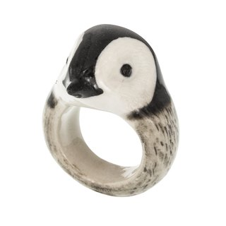 Little Penguin porcelain Ring (Size M) manual cute animals France