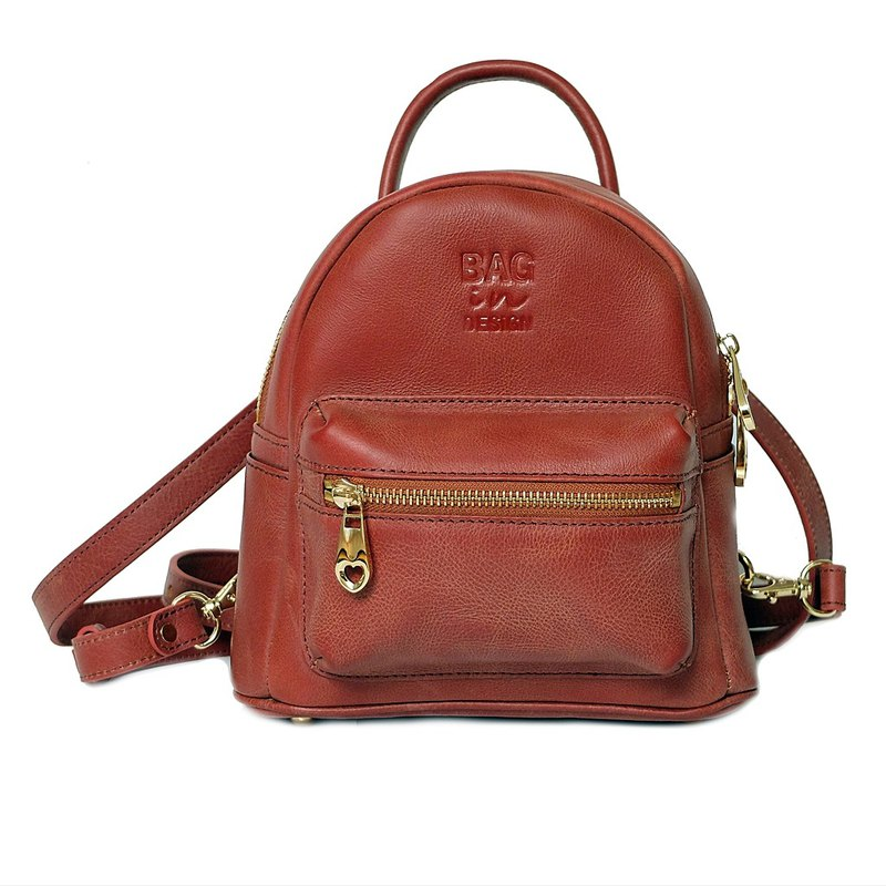 4a39936e38 Rose Angel Mini BackPack Genuine Leather - Designer VANCHADA