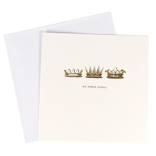 Shiny gold crown Christmas box card 10 into [Hallmark-card Christmas series]