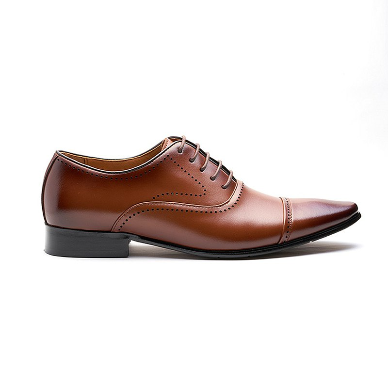 Cameron Leather Shoes KG80057 Brown