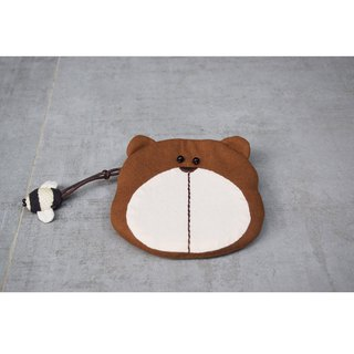 Bear big coin purse