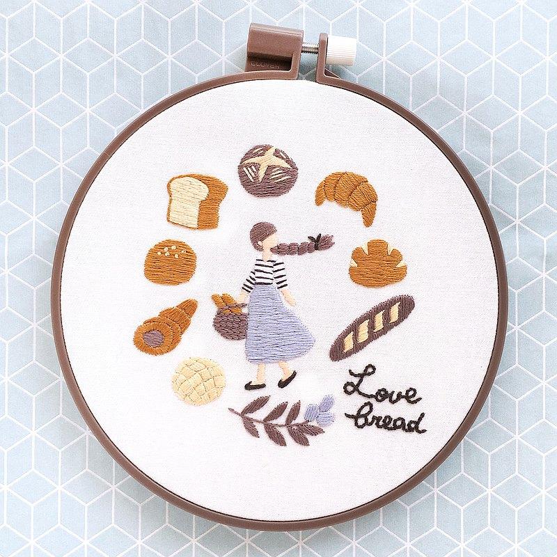 巴黎麵包和麵包卷-刺繡圈套件