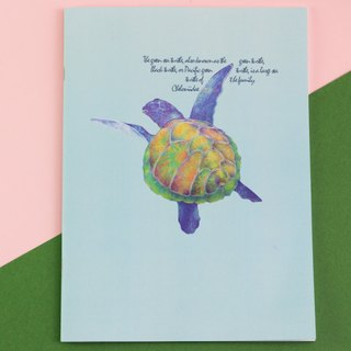 Green turtle turtle notebook