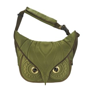 Morn Creations genuine classic shoulder bag owl No. L - Green (OW-211-GN)