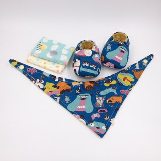 Home has a pet bottom - Miyue baby gift box (toddler shoes / baby shoes / baby shoes + 2 handkerchief + scarf)