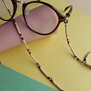 Coconut shell Glasses chain Necklace