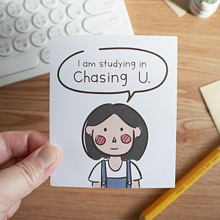 Card - I'm Studying in Chasing U - Pun Intended