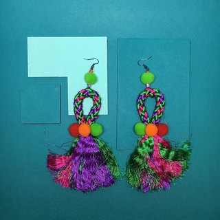 earrings: boho tassel