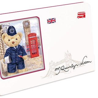 British Teddy 60 seconds sound and light recording card postcard photo frame Valentine's Day souvenir gift