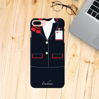 Japan Airlines JAL Air Hostess Ground Attendant Black iPhone Samsung Case