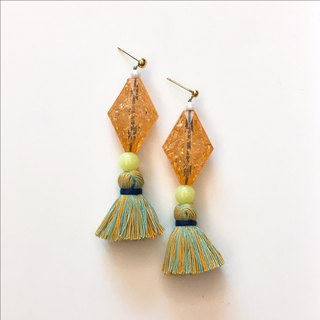 Drunk gold mixed tassel ear clip / ear clip models
