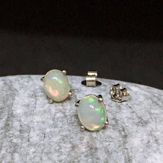 Opal Ear top Made in India 92.5% Silver