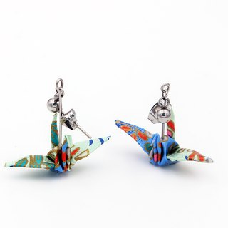Wind cranes earrings (water reflect the azure) - Valentine's Day gift