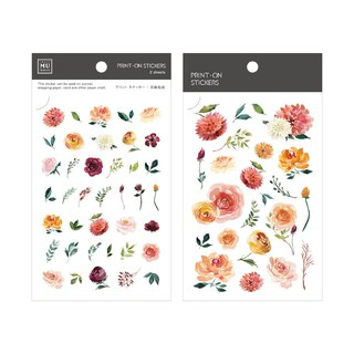 [Print-On Stickers] | Flower Series 44-Sun Rose | Pocket, DIY Friends