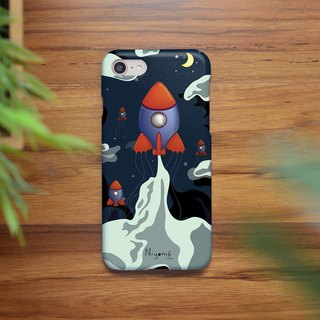 iphone case night space rocket for iphone 6, 7, 8, iphone xs , iphone xs max