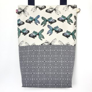 Goldfish Madness Sling Tote 2018 Collection - Grey