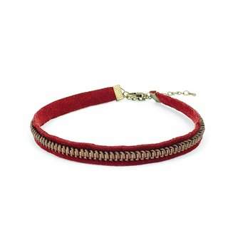 Crimson Zipper Necklace