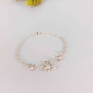 Spring flowers bloom season x / silver bracelet / Màn workers