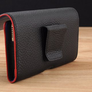 STORYLEATHER made (APPLE iPhone series) Style W5 horizontal double border line customized leather holster