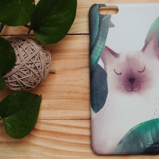 iphone case print high quality with cat leaf